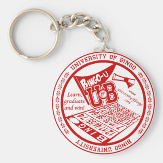 University Of Bingo red seal button Key Chain