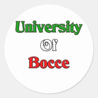 University of Bocce Round Sticker