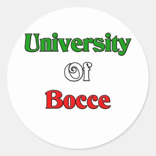 University of Bocce Sticker