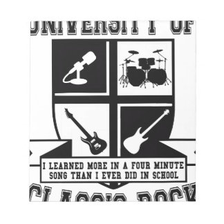 University of Classic Rock Note Pad