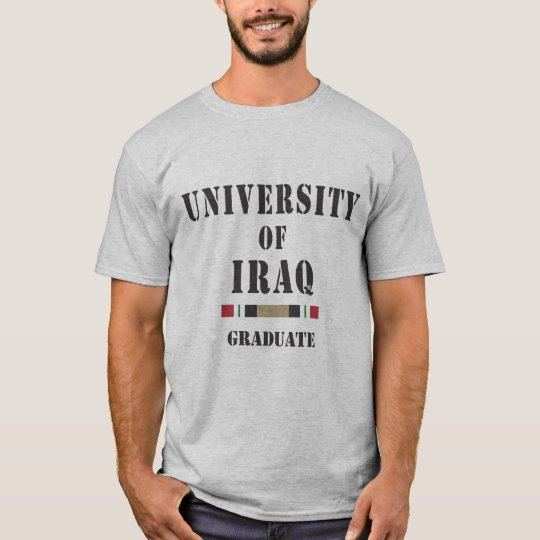 University of Iraq stencil graduate T-Shirt