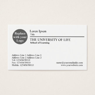 University of Life - Black Rule Business Card