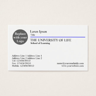 University of Life - Blue Rule Business Card