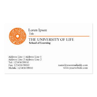 University of Life - Orange Rule Pack Of Standard Business Cards