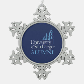 University of San Diego | Alumni Snowflake Pewter Christmas Ornament