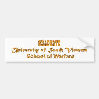 University Of South Vietnam - School of Warfare Bumper Sticker