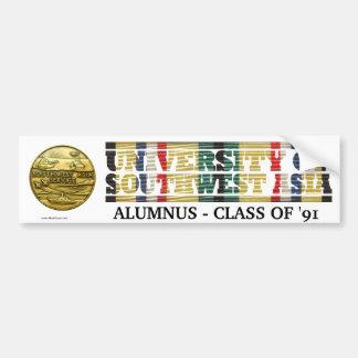 University of Southwest Asia Alumnus Sticker Bumper Stickers