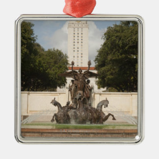 University of Texad Clock Tower. Silver-Colored Square Decoration