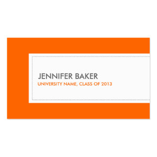 UNIVERSITY or COLLEGE STUDENT ORANGE Pack Of Standard Business Cards