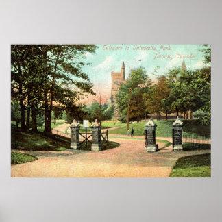 University Park, Toronto Canada 1907 Vintage Posters