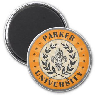 University Parker Orange Fridge Magnet