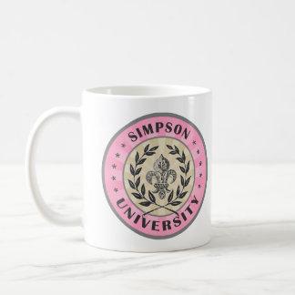 University Simpson  Pink Basic White Mug