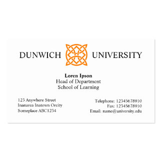 University Style v3 Pack Of Standard Business Cards