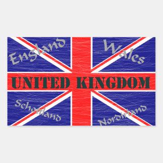 University Ted Kingdom Rectangle Sticker