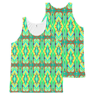 UniverSoul Art Sect 2 + hearts Tank Top All-Over Print Tank Top