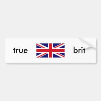 UNKG0001, true , brit Car Bumper Sticker