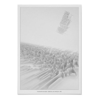 Unknown Pleasures Inspired Poster