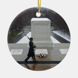 """""""Unknown Soldier"""" Round Ceramic Decoration"""