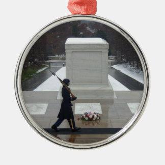 """Unknown Soldier"" Silver-Colored Round Decoration"