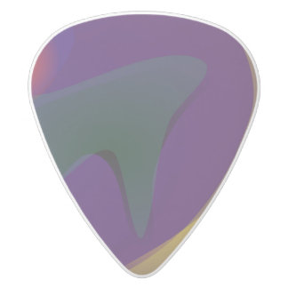Unknown White Delrin Guitar Pick