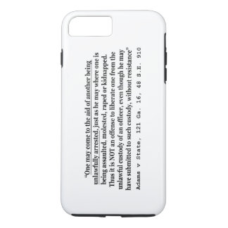 Unlawful Arrest Adams v State 121 Ga 16 48 SE 910 iPhone 7 Plus Case