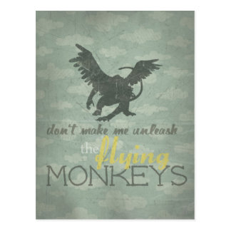 Unleash the Flying Monkeys Postcard