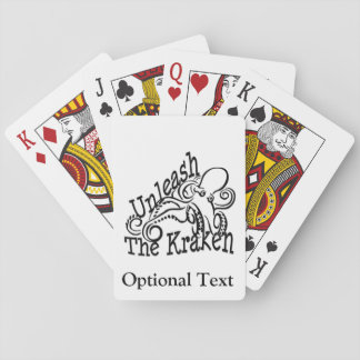 Unleash the Kraken Playing Cards