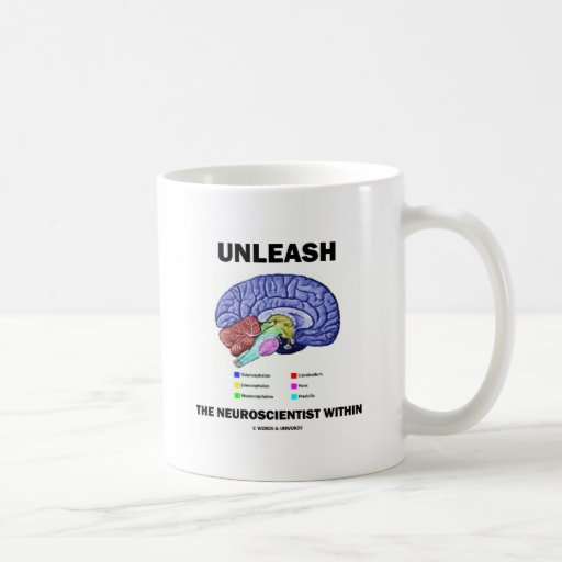 Unleash The Neuroscientist Within (Brain Anatomy) Basic White Mug