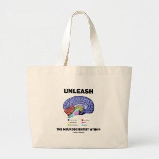 Unleash The Neuroscientist Within (Brain Anatomy) Jumbo Tote Bag