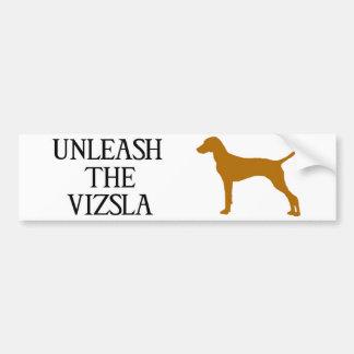UNLEASH THE VIZSLA BUMPER STICKER
