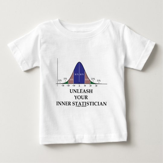 Unleash Your Inner Statistician (Bell Curve Baby T-Shirt