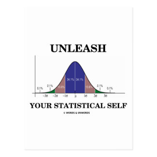 Unleash Your Statistical Self Bell Curve Humor Postcards