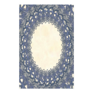 Unlined Blue Lace p2 Stationery Pages