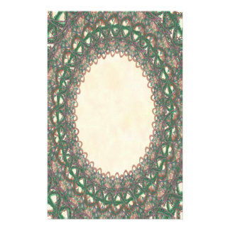 Unlined Green Lace p2 Stationery Pages