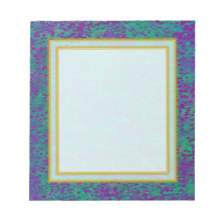 Unlined Purple Teal Small Note Pad Scratch Pad