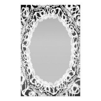 Unlined White Lace Damask II p2 Stationery Pages
