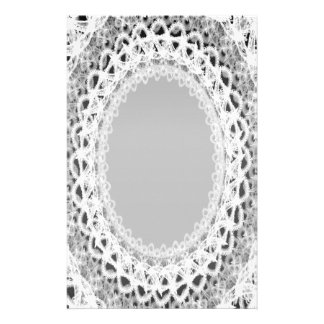 Unlined White Lace Damask III p2 Stationery Pages