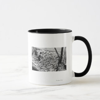 Unloading Salmon from Fishing Boats Photograph Mug