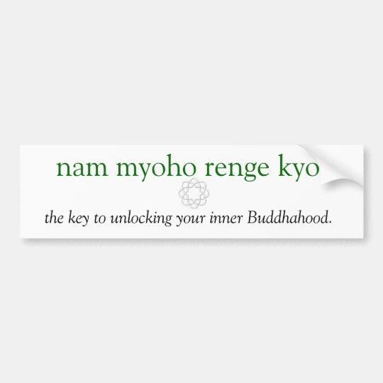 unlock your buddhahood bumper sticker