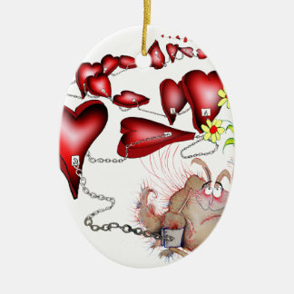 unlucky in love, tony fernandes christmas ornament