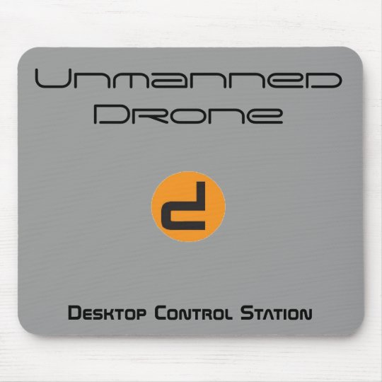Unmanned Drone Desktop Control Station Mouse Mat