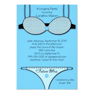 Unmentionables Blue 13 Cm X 18 Cm Invitation Card