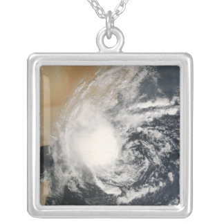 Unnamed Tropical Cyclone Silver Plated Necklace