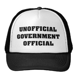 Unofficial Government Official Mesh Hat