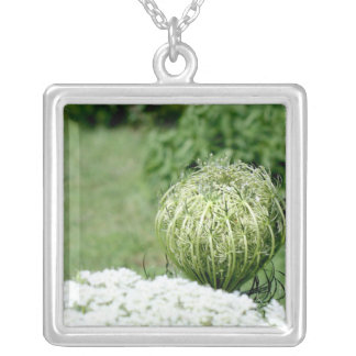 Unopened Queen Anne's Lace Personalized Necklace