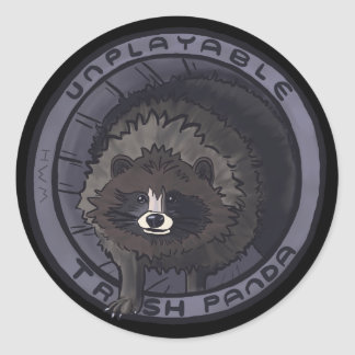 Unplayable Trash Panda Sticker - No Lid