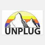 Unplug in the Mountains Sticker