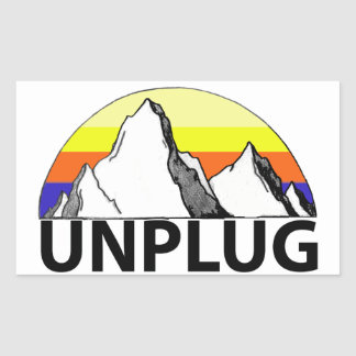 Unplug in the Mountains Sticker