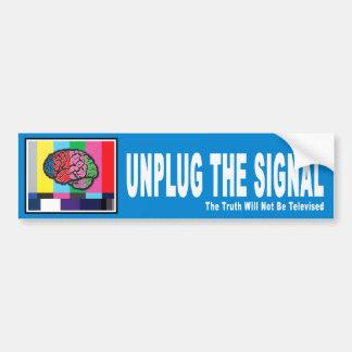 Unplug the Signal Bumper Sticker