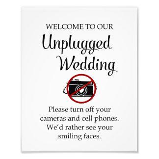 Unplugged Wedding Print Photo Art